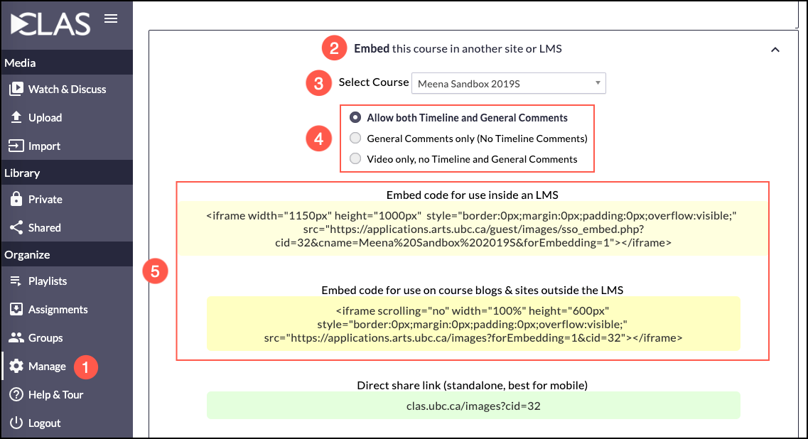 Embed CLAS | CLAS - Collaborative Learning Annotation System